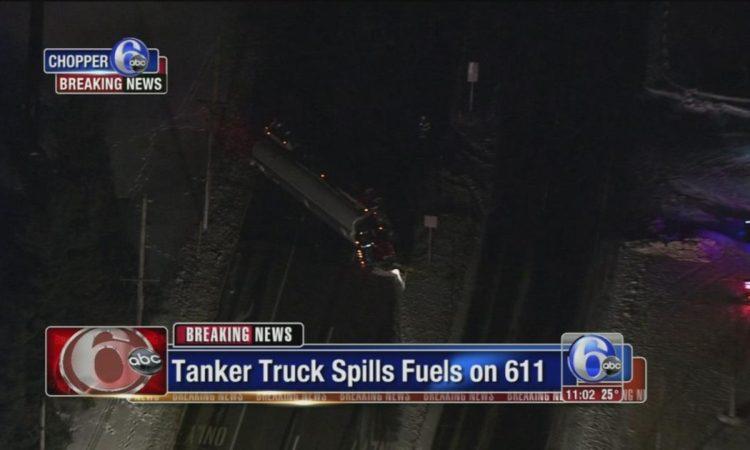 Gasoline Tanker Spill Warrington Pa 2-10-17